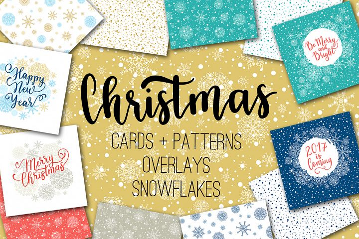 Christmas cards  overlays patterns