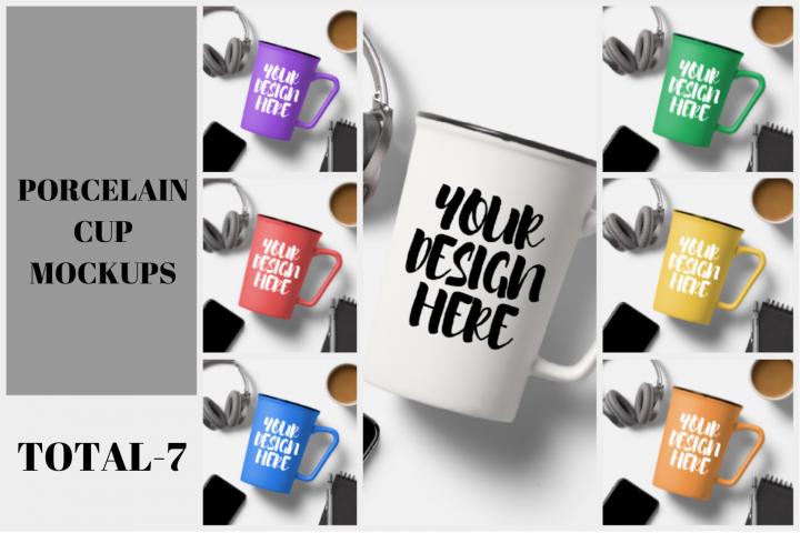 Porcelain Mug Cup Mockup Bundle - 7 1080x1080px