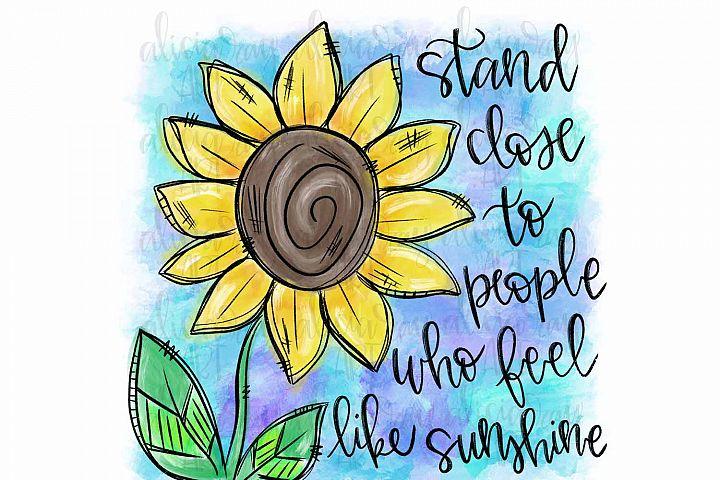 Sunshine Sunflower Sublimation PNG Digital Download