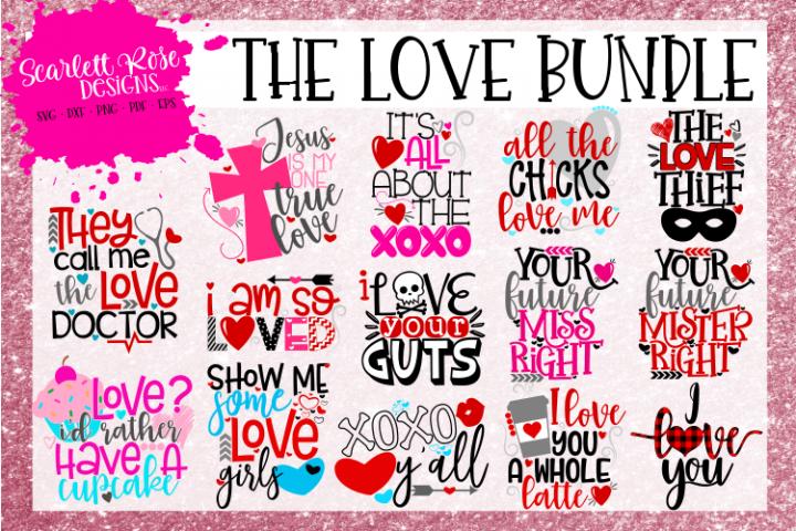 The Love Bundle - Valentines Day SVG Bundle