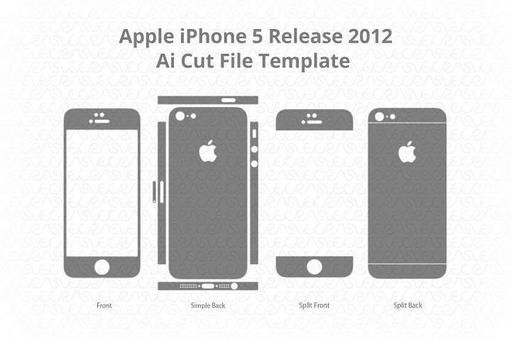 Apple iPhone 5 Vinyl Skin Cut File Template 2012