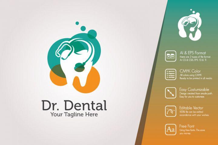 Dr. Dental Logo Template