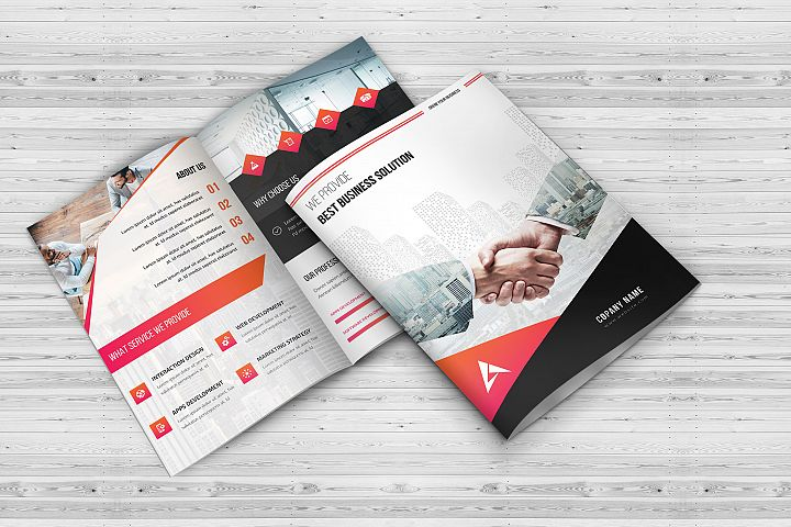 Corporate Bi-Fold Business Brochure