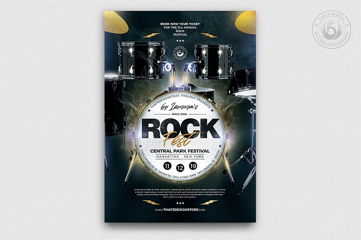 Rock Festival Flyer Template V7