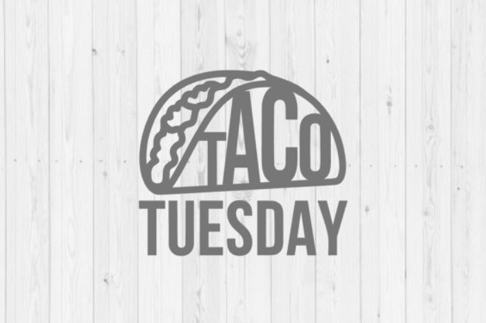 Taco Tuesday SVG vector image cut file for Cricut and Silhouette