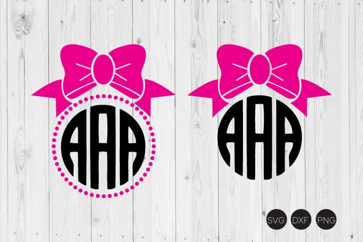 Bow Monogram SVG, Bow SVG, DXF, PNG Cut Files