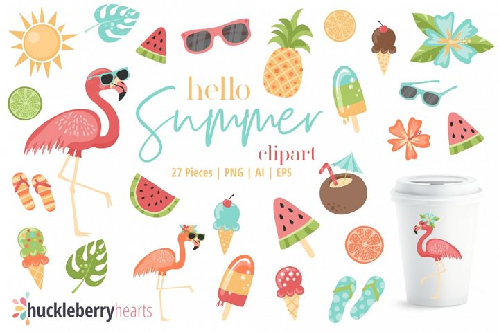 Hello Summer Clipart