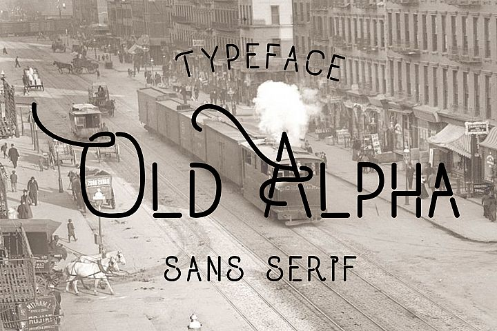 Old Alpha Typeface