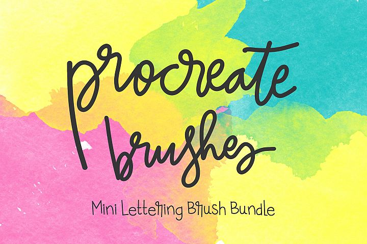 Procreate Brushes - Mini Lettering Brush Bundle