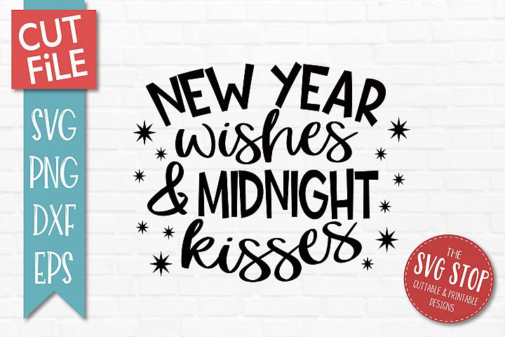 New Year Kisses SVG, PNG, DXF, EPS example image 1