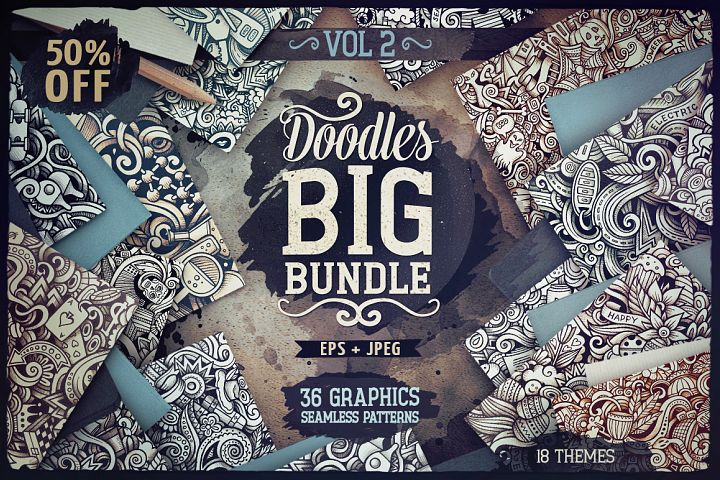 -50 SALE/ Big Doodle Patterns Bundle #2