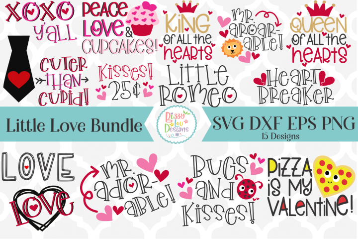 The Little Love Bundle SVG DXF EPS PNG