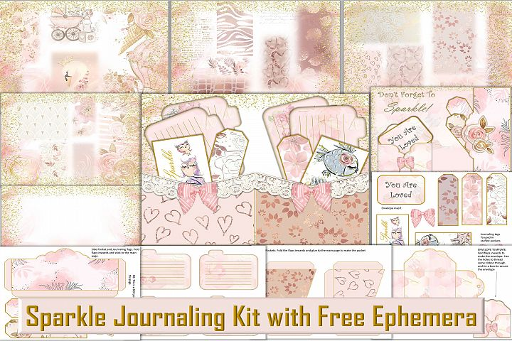 Printable Journal Kit with free Ephemera JPEG PNG PDF