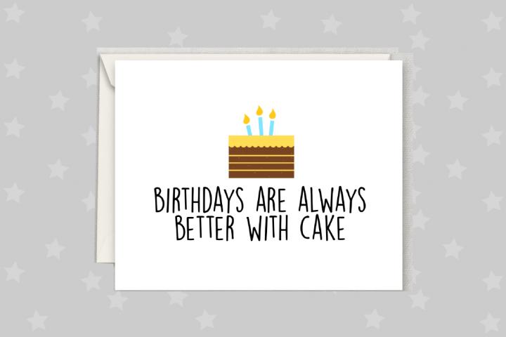 Birthday Cake Card, Happy Birthday Printable