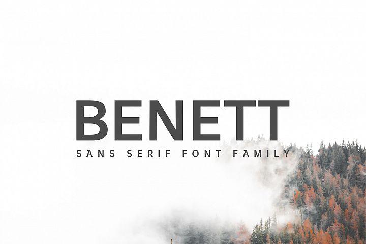 Benett Sans Serif Font Family