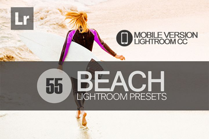 55 Beach Lightroom Mobile bundle Presets