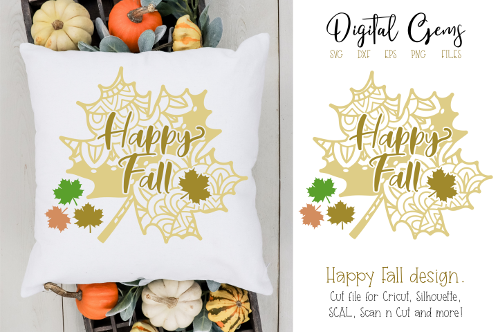 Happy Fall SVG / PNG / EPS / DXF Files