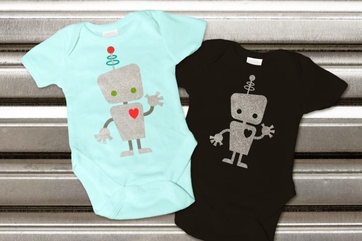 Cute Kid Robot SVG File Cutting Template