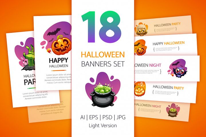 Halloween Banners Set Light Version