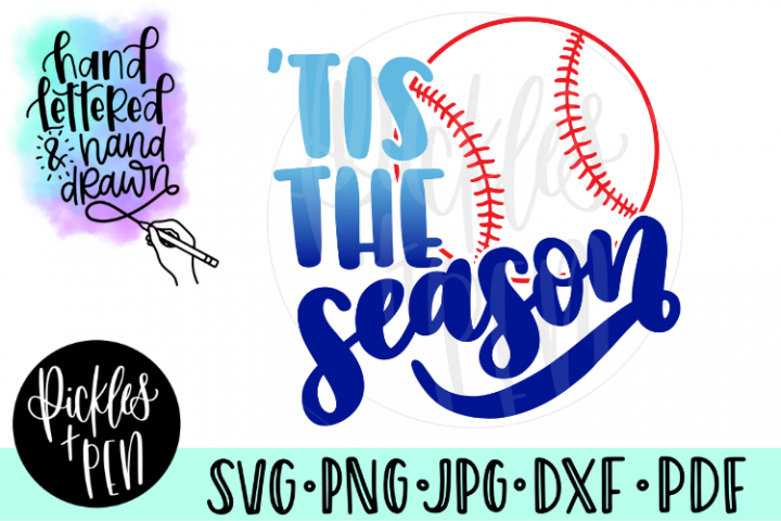 Baseball SVG - Tis The Season - Baseball Season