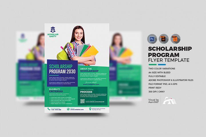 Scholarship Flyer Template