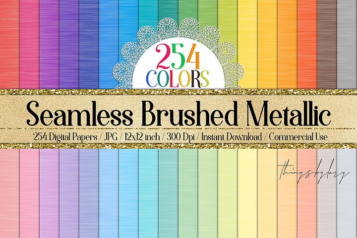 254 Seamless Brushed Metallic Polish Metal Digital Papers