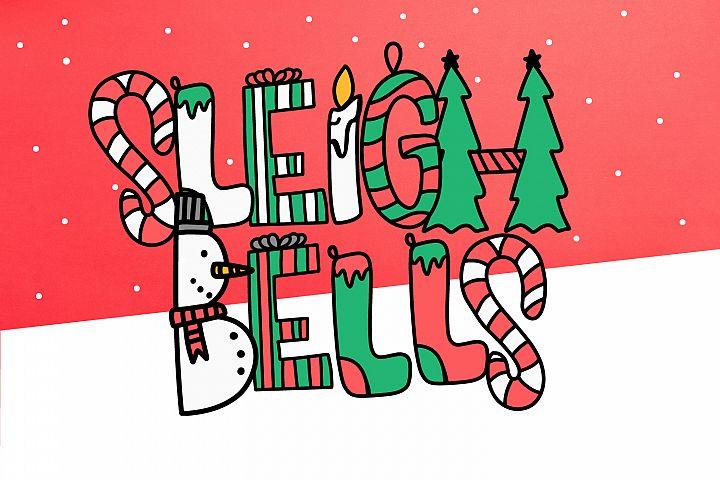Sleigh Bells - A Christmas Font