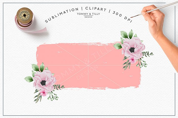 Pink Floral Background No.2 - Sublimation PNG Clipart