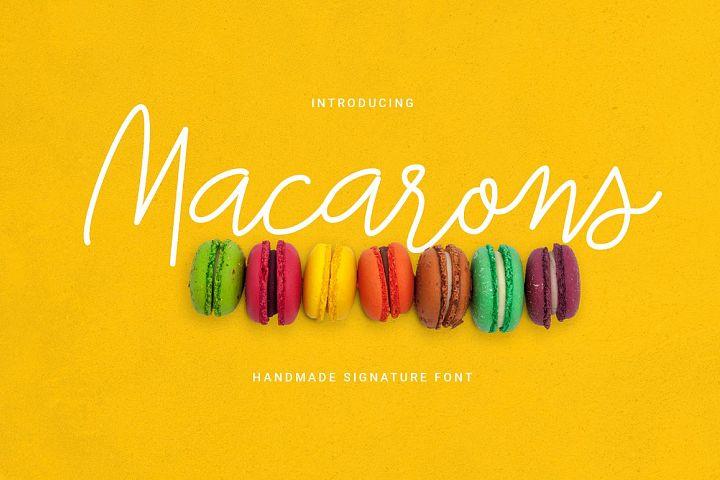 Macarons - Font and Extras / Cursive Font / Script Font /