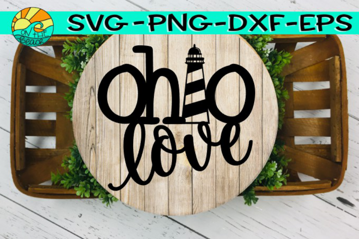 Ohio Love - Lighthouse - Welded - SVG - PNG - EPS - DXF