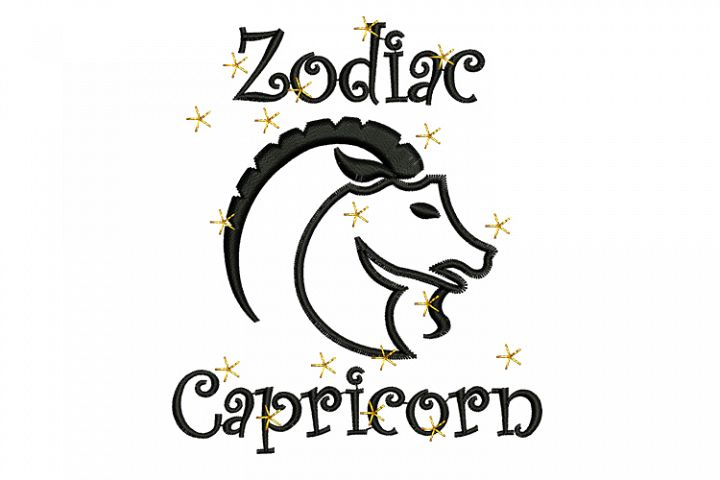 Capricorn machine embroidery designs