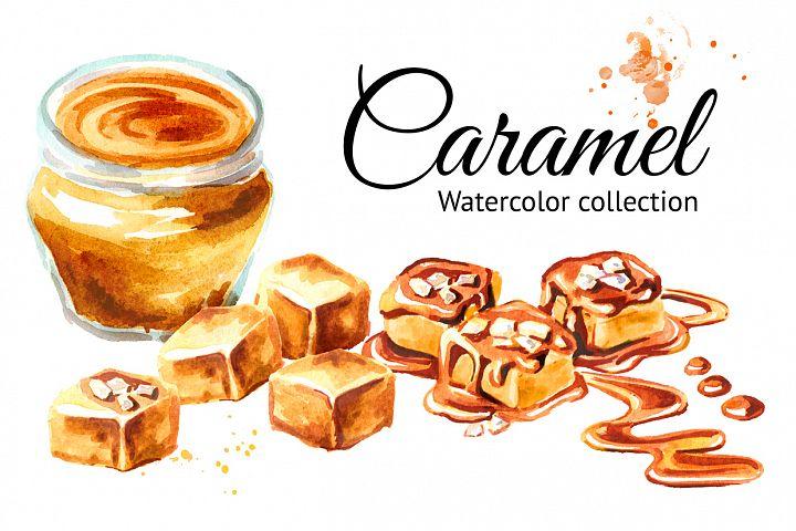 Caramel. Watercolor collection