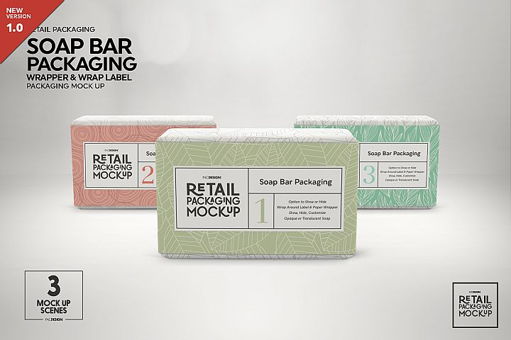 Retail Soap Bar Packaging Mockup