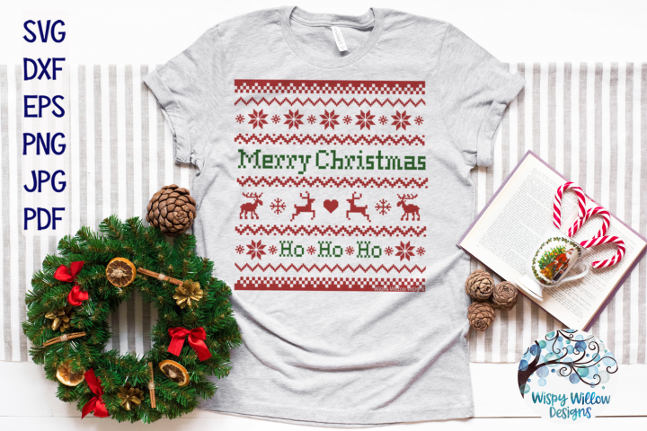 Merry Christmas Ugly Sweater SVG | Christmas SVG Cut File