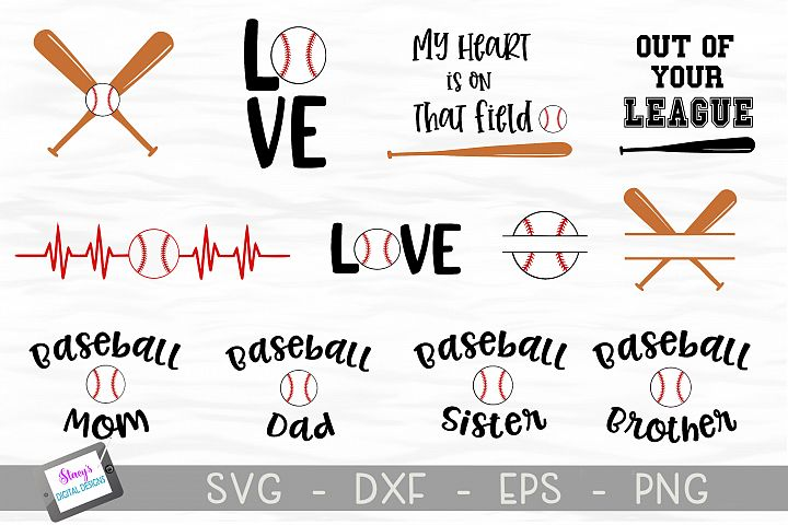 Baseball SVG Bundle - Includes 12 Baseball Designs