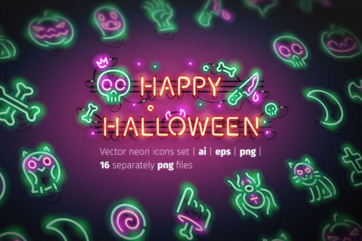 Halloween Neon Icons