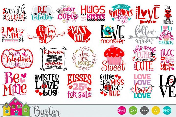 Hugs and Kisses Valentine SVG Bundle