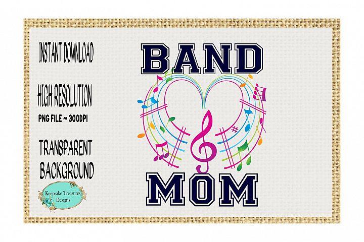 Band Mom Sublimation Design