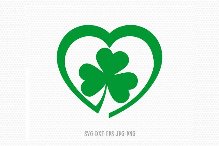 Shamrocks SVG, Saint Patricks love heart Day Svg