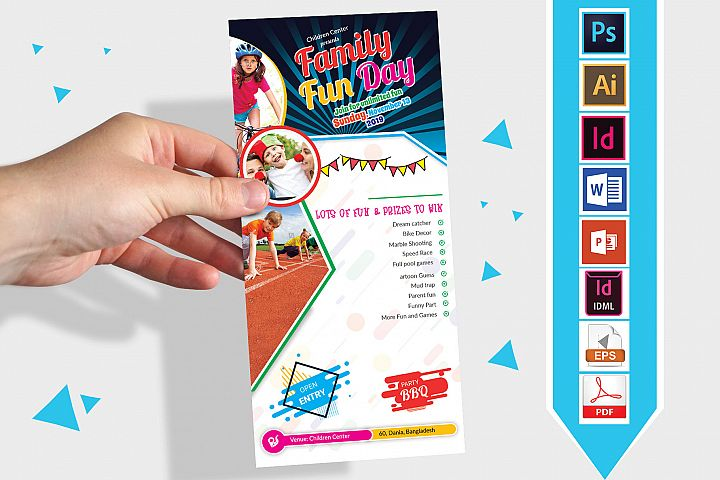 Rack Card | Family Fun Day DL Flyer Vol-02