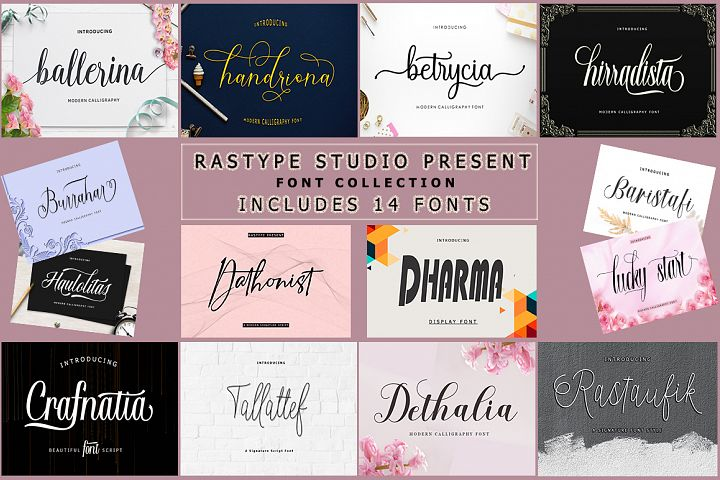 14 IN 1 FONT BUNDLE