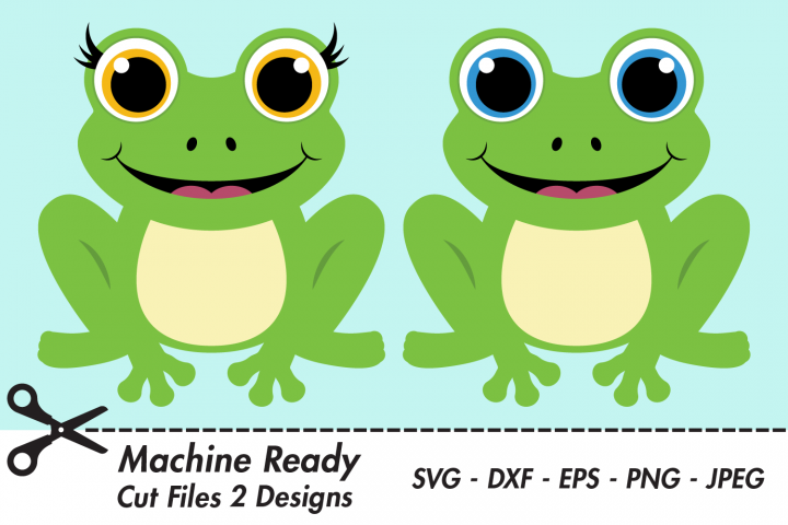 Cute Frog SVG Cut Files, Woodland Pond Animals
