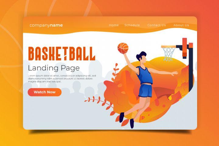 Basketball - Landing Page Illustration