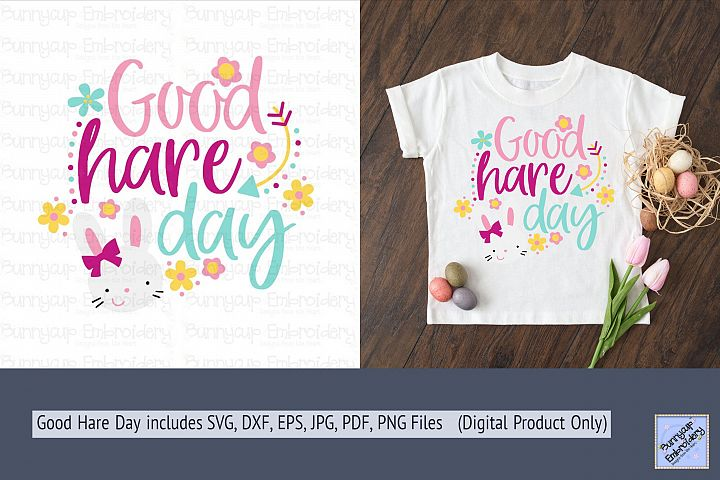 Good Hare Day - SVG, Clipart and Printable