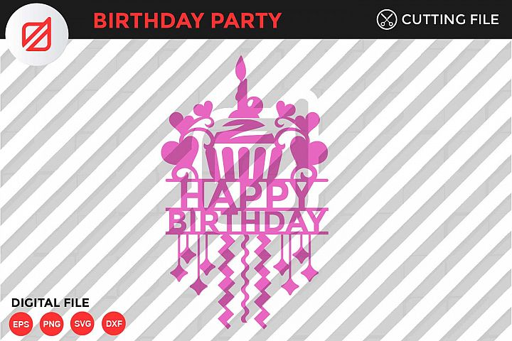 Happy Birthday Cutting File-SVG