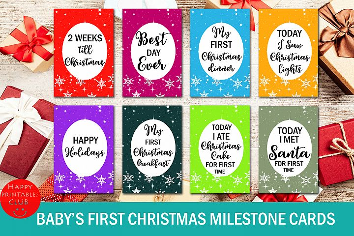 Babys First Christmas Milestone Cards- My First Christmas