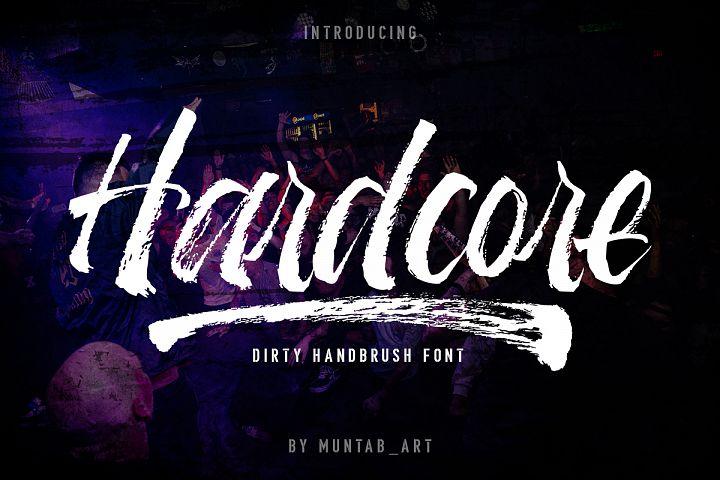 Hardcore | Hand Brush Font
