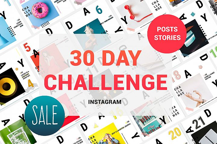 30 Day Challenge Instagram Pack