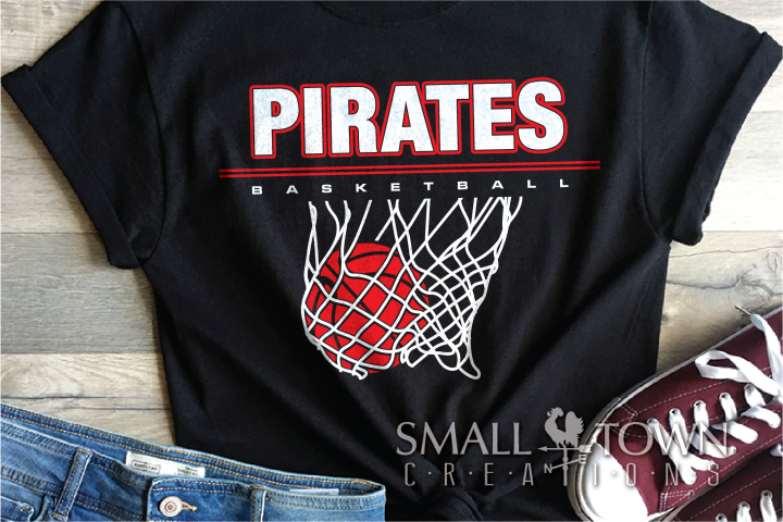 Pirate, Pirate Basketball, Sport, Design, PRINT, CUT, DESIGN