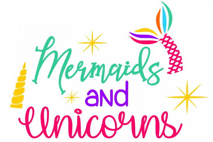 Mermaids and Unicorns FILE SVG,EPS,DXF,PNG,JPG